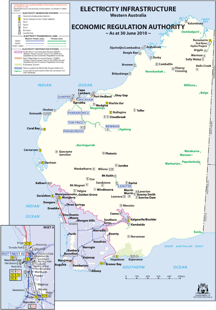 Western Australia Cities Map images
