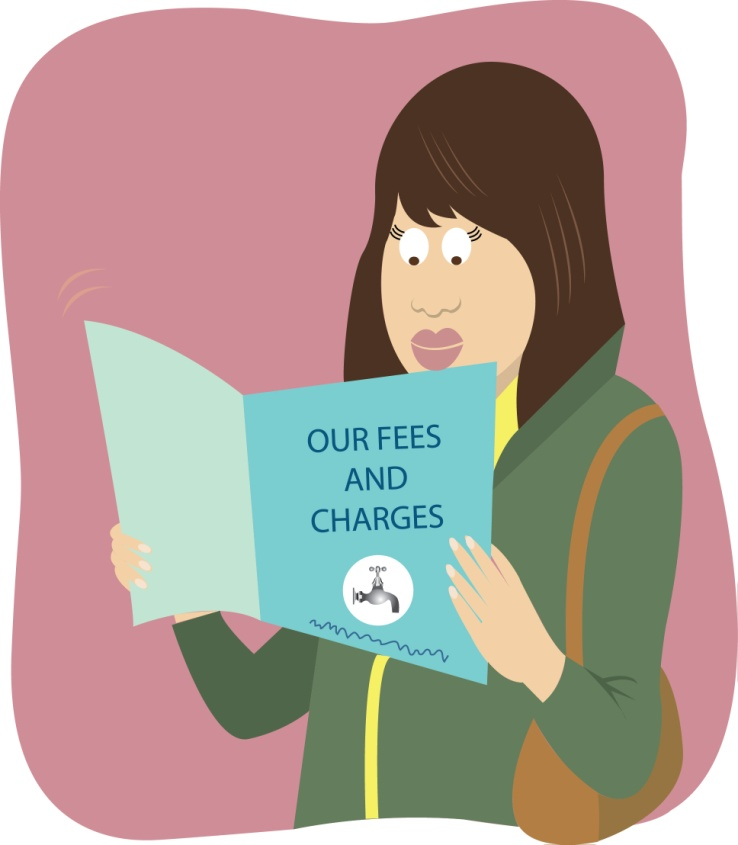 Writing services charges fees